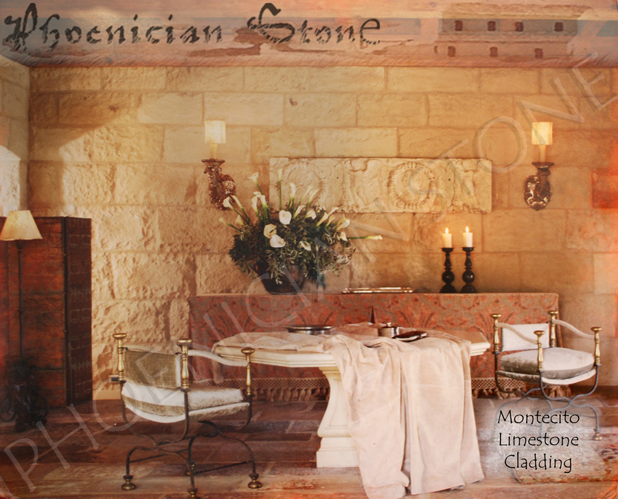 Montecito Stone Wall Cladding New milled & clefted Limestone