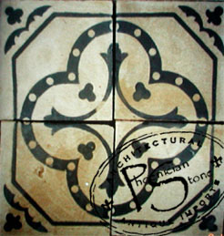 Encaustic Tile #8-B
