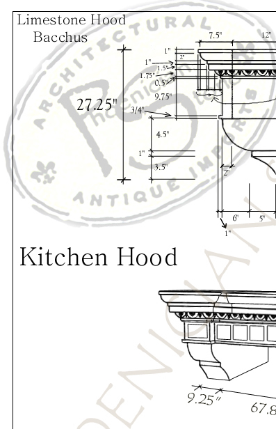 The 'Villa Anticata Di Bacchus' Kitchen Hood
