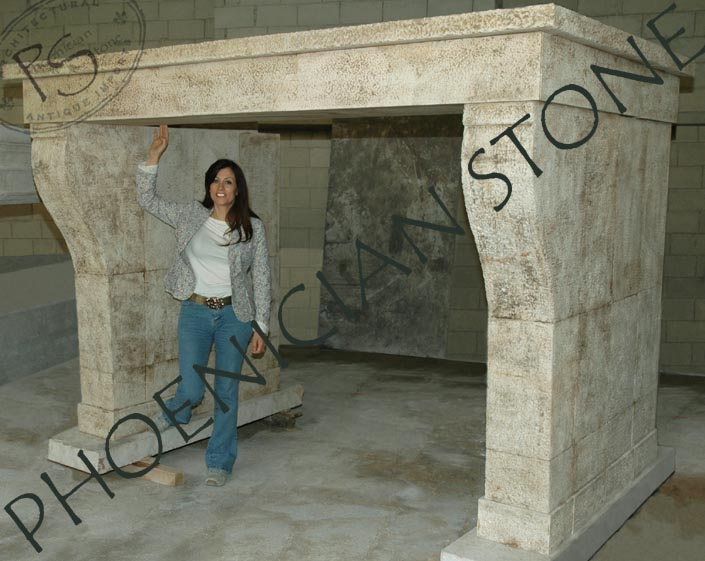 The  Camina Di Monte Magiore Mantle Old Reclaimed Antique Mantels and hand carved Limestone Mantles by