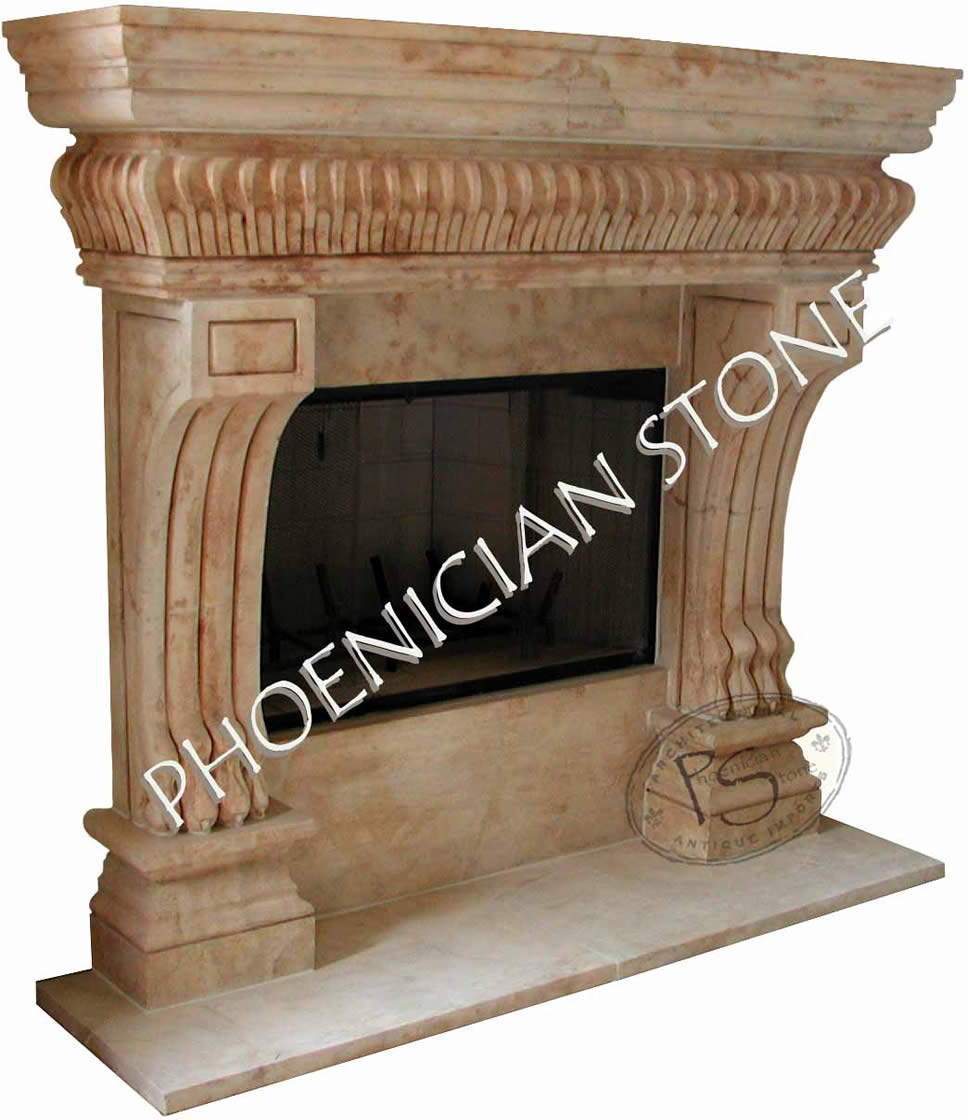 Limestone mantles by phoenician stone